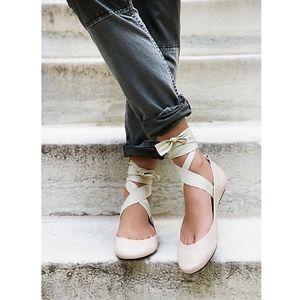 NWOB Free People | Degas Ballerina Flats Leather